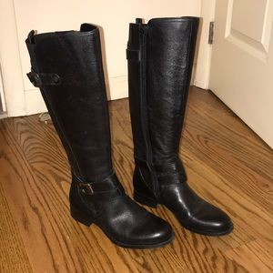 Naturalizer Jillian Black Riding Boots